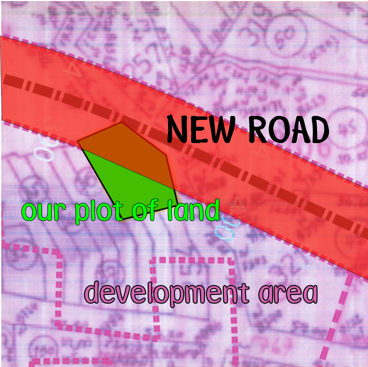 Map of new road